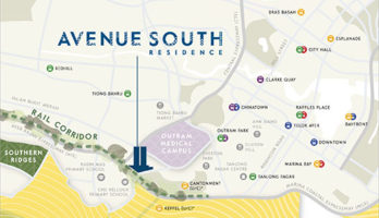 Avenue South Residence Location Map 2 Singapore