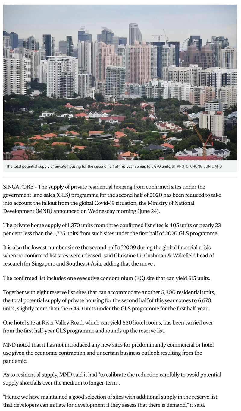 https://www.straitstimes.com/business/property/govt-cuts-private-housing-supply-from-confirmed-land-sale-sites-due-to-covid-19 -1